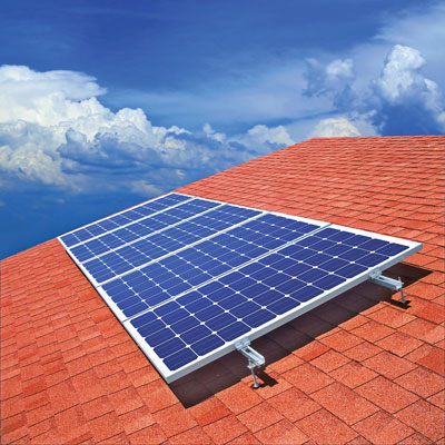 Solar Panels On Residential Rooftop Cut 1